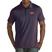 Antigua Men's Ole Miss Rebels Red Quest Polo