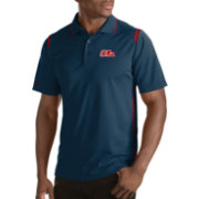 Antigua Men's Ole Miss Rebels Merit Xtra-Lite Red Polo