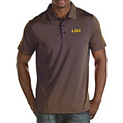 Antigua Men's LSU Tigers Purple/Gold Quest Polo
