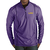 Antigua Men's LSU Tigers Purple Tempo Half-Zip Pullover