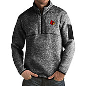 Antigua Men's Louisville Cardinals Black Fortune Pullover Jacket