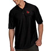 Antigua Men's Louisville Cardinals Black Illusion Polo