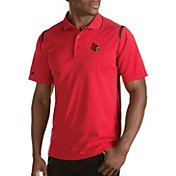 Antigua Men's Louisville Cardinals Merit Xtra-Lite Cardinal Red Polo