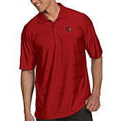 Antigua Men's Louisville Cardinals Cardinal Red Illusion Polo