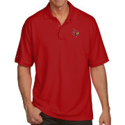 Antigua Men's Louisville Cardinals Cardinal Red Pique Xtra-Lite Polo