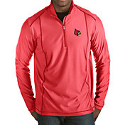 Antigua Men's Louisville Cardinals Cardinal Red Tempo Half-Zip Pullover