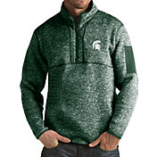 Antigua Men's Michigan State Spartans Green Fortune Pullover Jacket