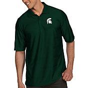 Antigua Men's Michigan State Spartans Green Illusion Polo