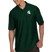 Antigua Men's Michigan State Spartans Green Illusion Polo