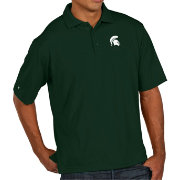 Antigua Men's Michigan State Spartans Green Pique Xtra-Lite Polo