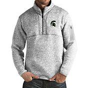 Antigua Men's Michigan State Spartans Grey Fortune Pullover Jacket