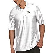 Antigua Men's Michigan State Spartans White Illusion Polo