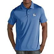 Antigua Men's Memphis Tigers Blue Quest Polo