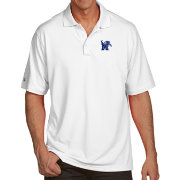 Antigua Men's Memphis Tigers White Pique Xtra-Lite Polo