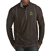 Antigua Men's Marshall Thundering Herd Black Tempo Half-Zip Pullover