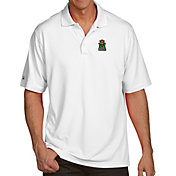 Antigua Men's Marshall Thundering Herd White Pique Xtra-Lite Polo