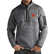 Antigua Men's Maryland Terrapins Grey Fortune Pullover Jacket