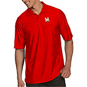 Antigua Men's Maryland Terrapins Red Illusion Polo
