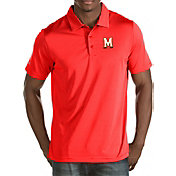 Antigua Men's Maryland Terrapins Red Quest Polo