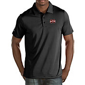 Antigua Men's Mississippi State Bulldogs Black Quest Polo