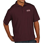 Antigua Men's Mississippi State Bulldogs Maroon Pique Xtra-Lite Polo