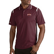 Antigua Men's Mississippi State Bulldogs Merit Xtra-Lite White Polo