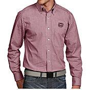 Antigua Men's Missouri State Bears Maroon Associate Button Down Long Sleeve Shirt