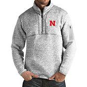 Antigua Men's Nebraska Cornhuskers Grey Fortune Pullover Jacket