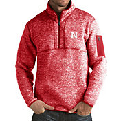 Antigua Men's Nebraska Cornhuskers Scarlet Fortune Pullover Jacket