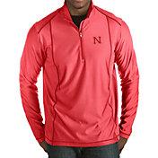 Antigua Men's Nebraska Cornhuskers Scarlet Tempo Half-Zip Pullover