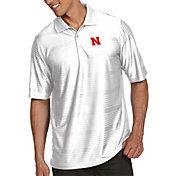 Antigua Men's Nebraska Cornhuskers White Illusion Polo
