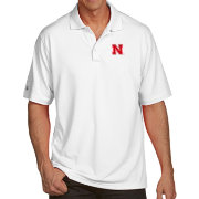 Antigua Men's Nebraska Cornhuskers White Pique Xtra-Lite Polo