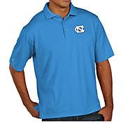 Antigua Men's North Carolina Tar Heels Carolina Blue Pique Xtra-Lite Polo