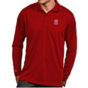 Antigua Men's NC State Wolfpack Red Exceed Long Sleeve Polo