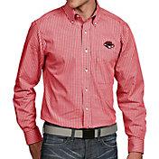 Antigua Men's UNLV Rebels Scarlet Associate Button Down Long Sleeve Shirt