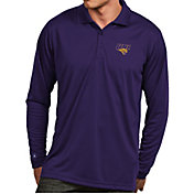 Antigua Men's Northern Iowa Panthers  Purple Exceed Long Sleeve Polo
