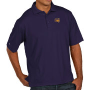 Antigua Men's Northern Iowa Panthers  Purple Pique Xtra-Lite Polo