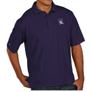 Antigua Men's Northwestern Wildcats Purple Pique Xtra-Lite Polo
