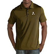 Antigua Men's Appalachian State Mountaineers Black Quest Polo