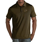 Antigua Men's Purdue Boilermakers Black/Old Gold Quest Polo