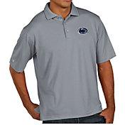Antigua Men's Penn State Nittany Lions Grey Pique Xtra-Lite Polo