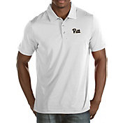 Antigua Men's Pitt Panthers White Quest Polo