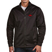 Antigua Men's Arkansas Razorbacks Black Full-Zip Golf Jacket
