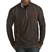 Antigua Men's Arkansas Razorbacks Black Tempo Half-Zip Pullover