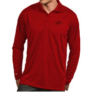 Antigua Men's Arkansas Razorbacks Cardinal  Exceed Long Sleeve Polo