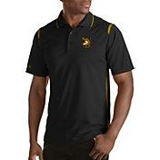 Antigua Men's Army West Point Black Knights Merit Xtra-Lite Army Black Polo