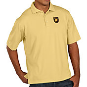 Antigua Men's Army West Point Black Knights USMA Gold Pique Xtra-Lite Polo