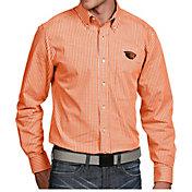 Antigua Men's Oregon State Beavers Orange Associate Button Down Long Sleeve Shirt