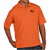 Antigua Men's Oregon State Beavers Orange Pique Xtra-Lite Polo