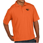 Antigua Men's Oregon State Beavers Orange Pique Xtra-Lite Polo